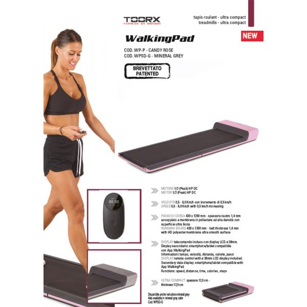 Toorx Walking Pad colore Candy Rose - WP-P (Pronta consegna)